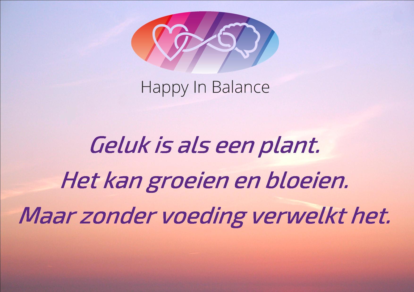 Geluk is als een plant