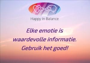 Emotie is informatie. Gebruik het goed!