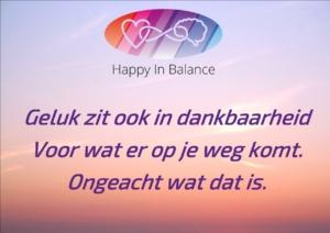 Geluk zit ook in dankbaarheid