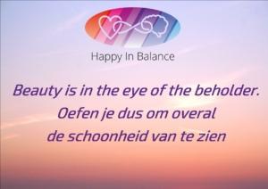 Schoonheid zien